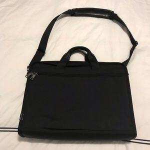 Tumi Bags - TUMI Nylon Laptop Messenger Bag with Leather Trim